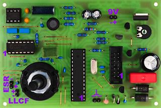 LCR ESR frequency meter AVR
