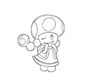 #3 Toadette Coloring Page