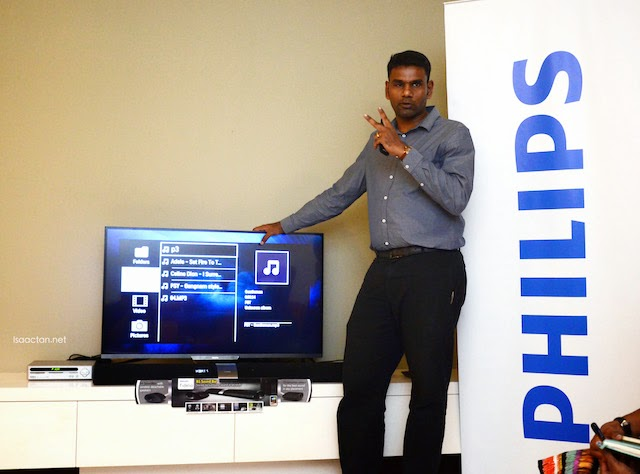 We were given plenty of heart thumping music and video demos that evening to showcase the Philips Fidelio B5 Soundbar