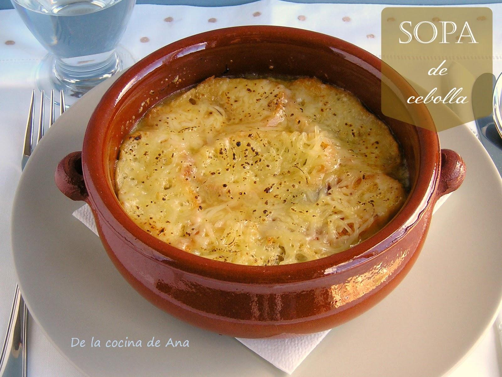 """""""receta clásica de sopa de cebolla"""""""