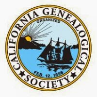 Member of the California Genealogical Society and Library