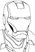Mascara de Iron Man para colorear y pintar. Iron Man para colorear y pintar, .