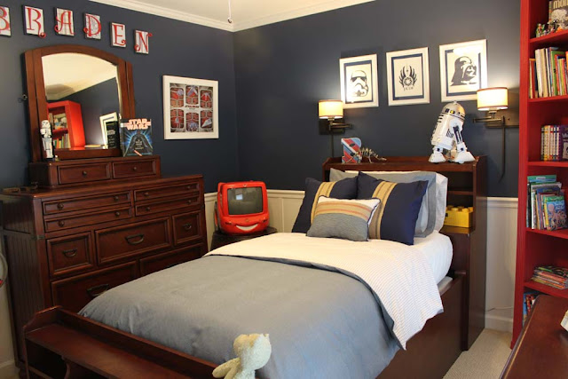 a star wars themed big boy room southern revivals