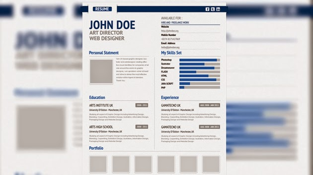 professional cv free resume template 2015 form psd stagepfe