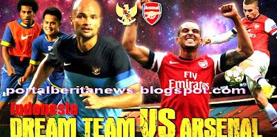 INDONESIA DREAM TEAM VS ARSENAL 14 JULI 2013