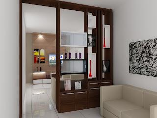 ... Desain Interior: Partisi pembatas ruang keluarga dan ruang tamu