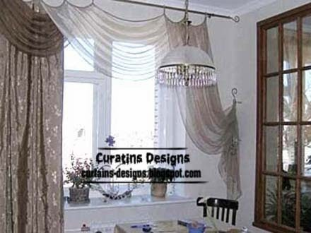modern curtain design ideas for kitchen windows 2014