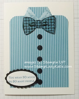 Card made with Stampin'UP! stamp set: Dapper Dad