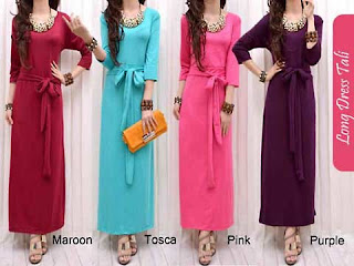 Dress Lebaran Chic Dress Woman Maxi Kaos Cantik
