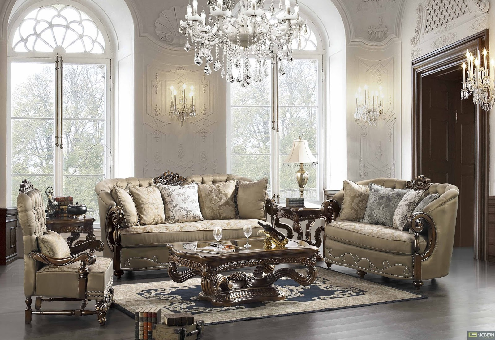 Best furniture ideas for home traditional classic Glamorous living room furniture