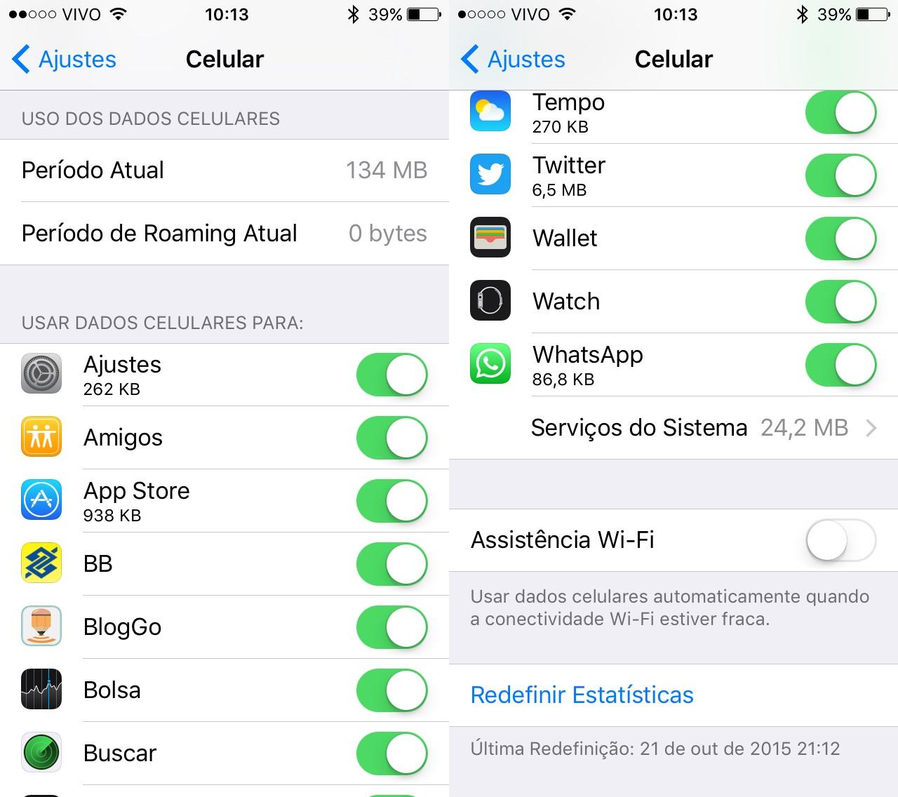Assistência Wi-Fi - iOS 9