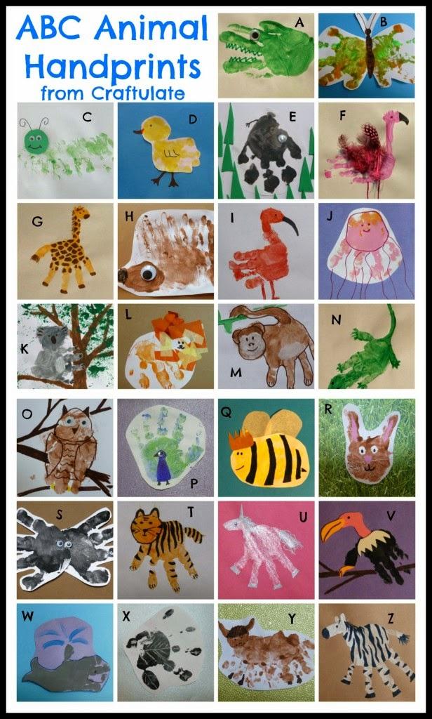 Alphabet Handprint Animals Animal Handprint Art For Every
