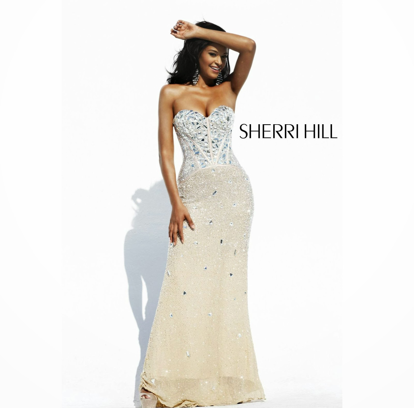 You Will Come To Life In This Long Shimmering Sequin Embedded Sherri Hill 1435 Gown It Catches The Light At Every Angle And Is Well Fitted Exaggerate A