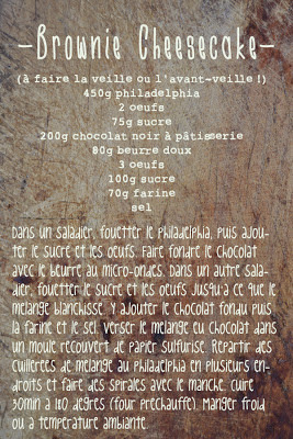 recette du brownie cheesecake ou brownie cream cheese philadelphia
