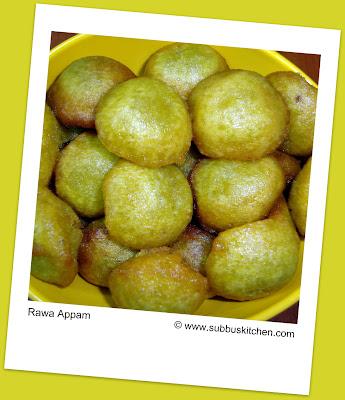 Rawa Appam (Sooji Appam)