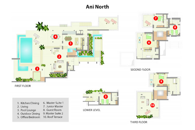 North villa floor plans
