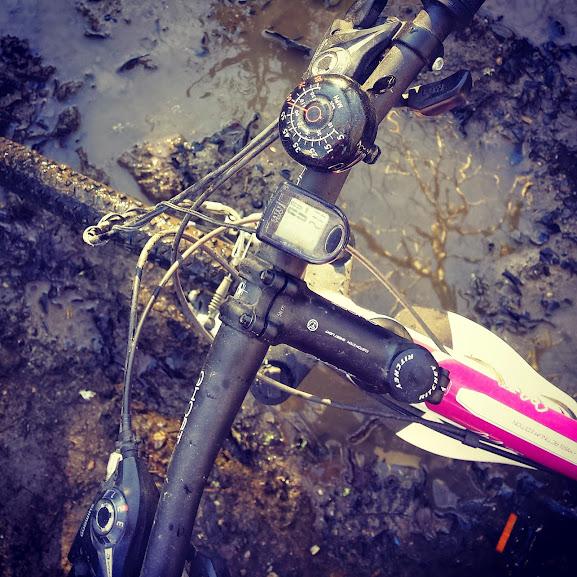 Bike stuck in mud