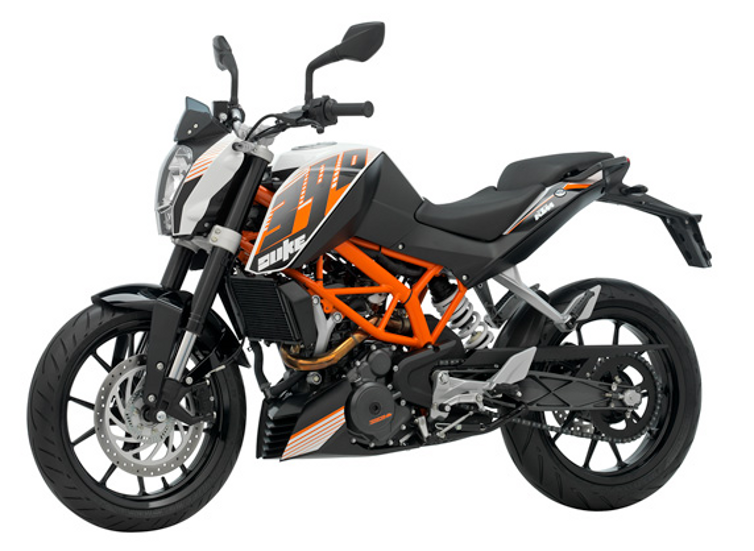 ktm duke 390 bike black with orange color ktm duke