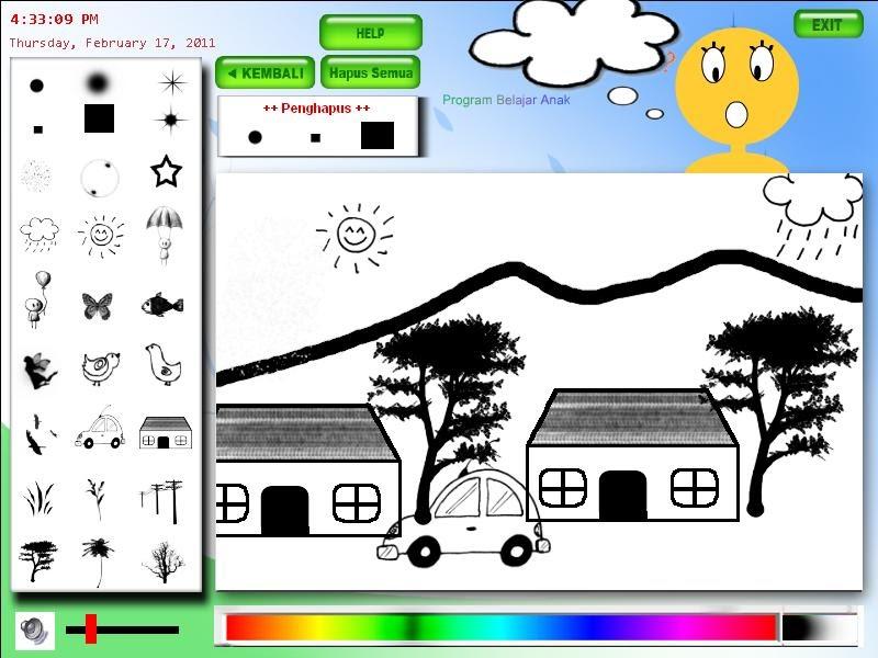belajar menggambar dengan komputer buat anak tk dan sd