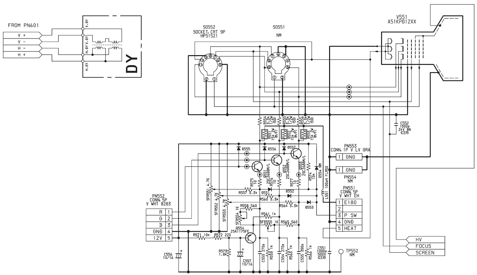 aiwa tv - a-219 - schematic diagram - using ics