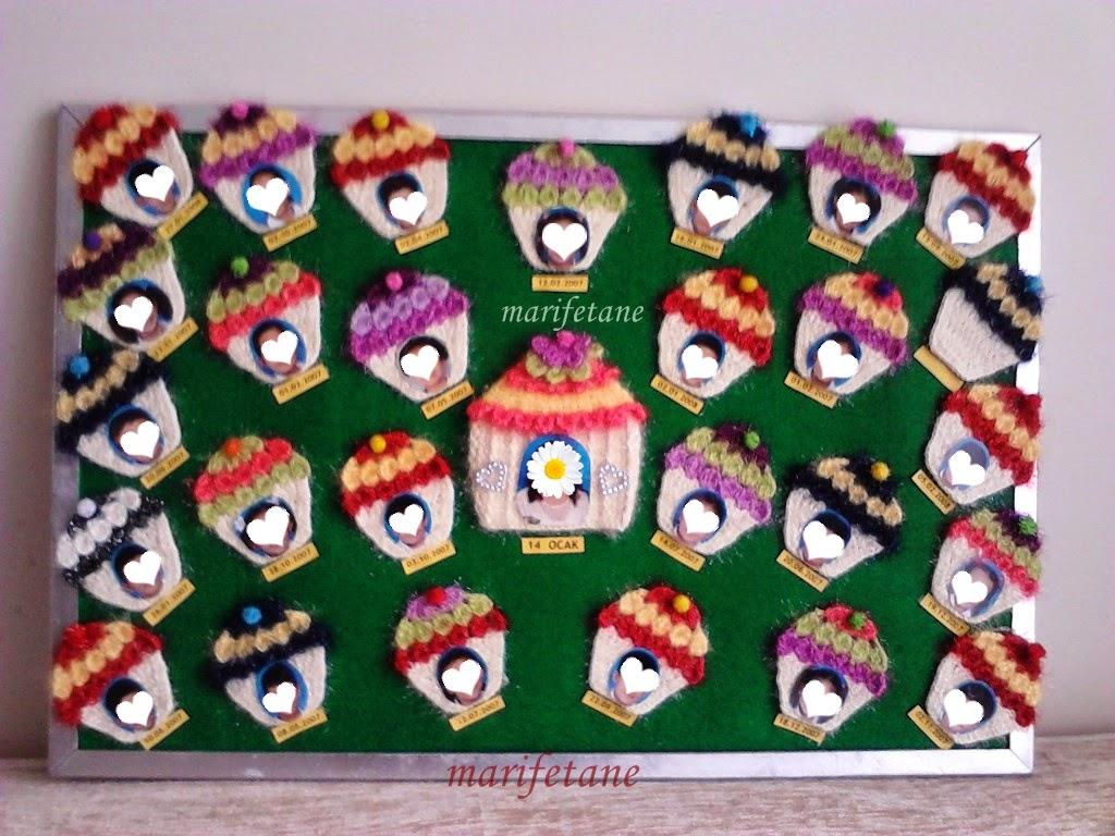 Örgü Muffinlerle Doğum Günü Panosu