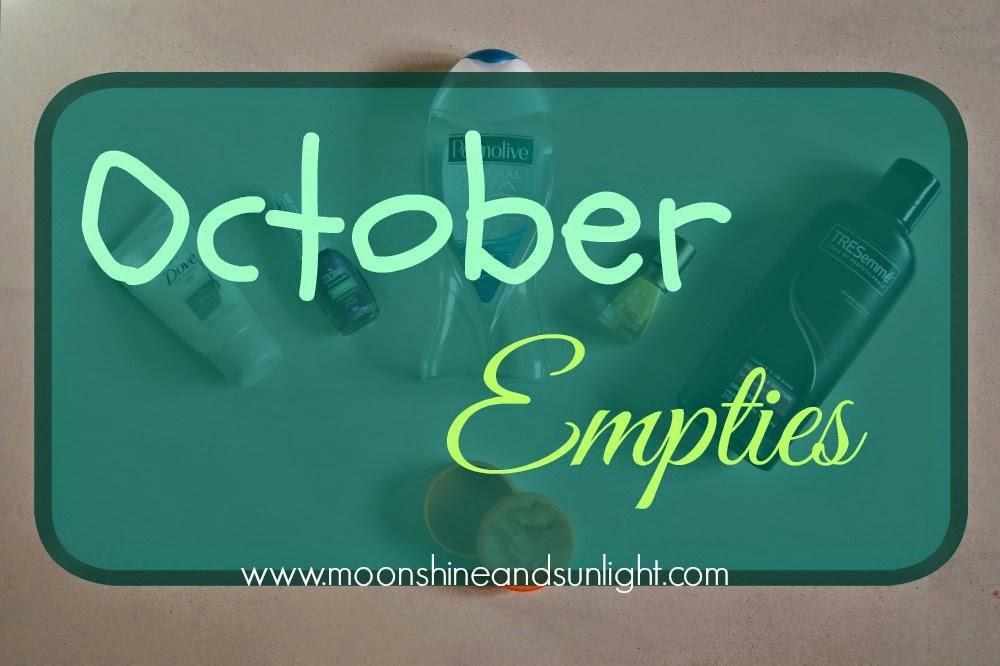 October 2014 Empties