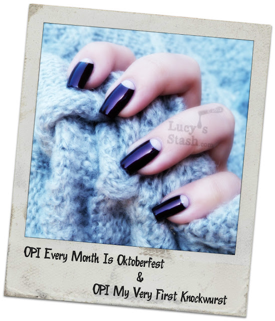 Lucy's Stash - OPI Germany Half-moon manicure