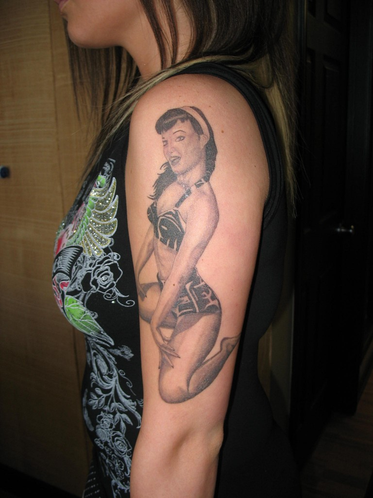 nude pin up girl tattoo