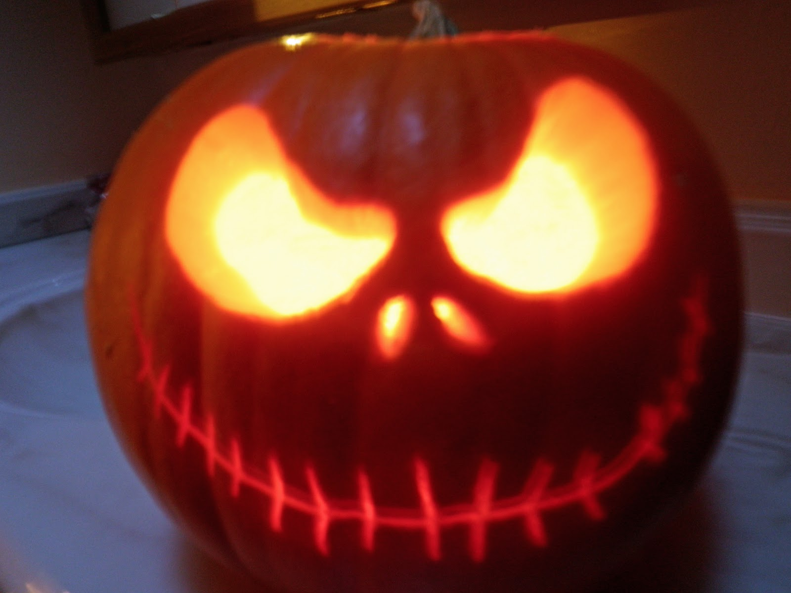 i did the nightmare before christmas jack o lantern - Nightmare Before Christmas Jack O Lantern