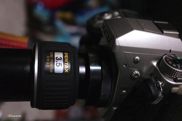 Pentax XW3.5 eyepiece + PM/XW to T adapter + Tring 這樣就省下使用攝影套筒麻煩了。