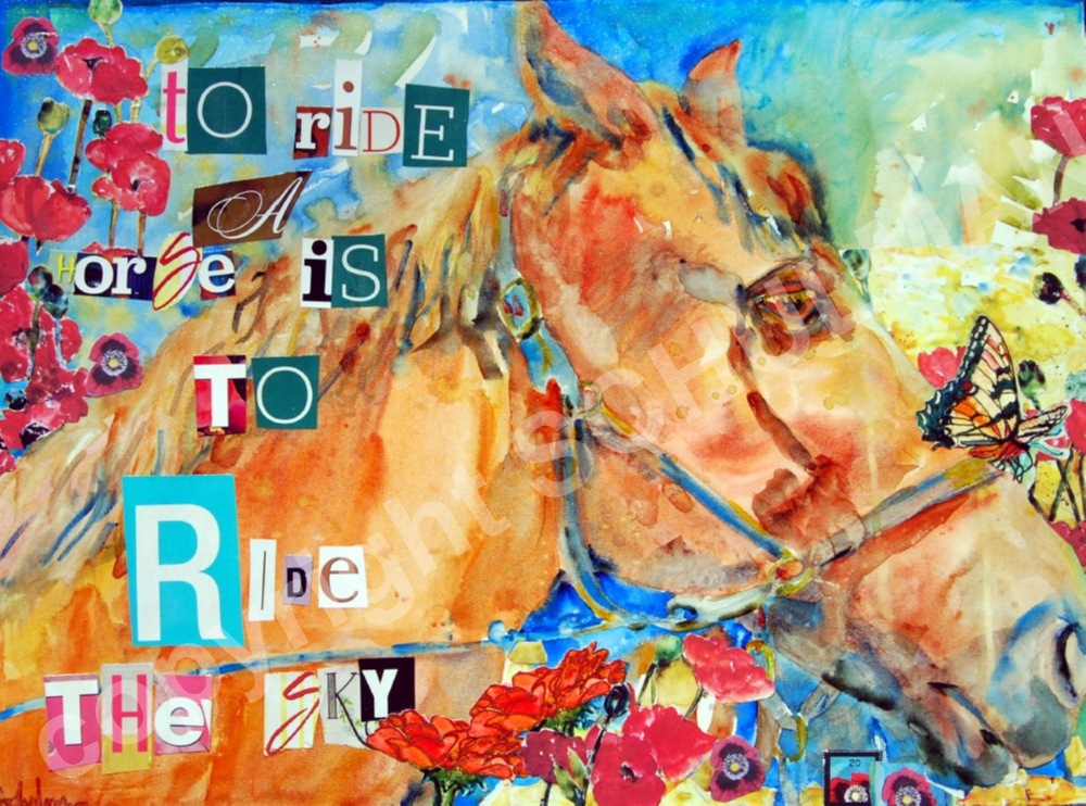 To Ride a Horse is Ride the Sky... to paint horse art is to paint ...