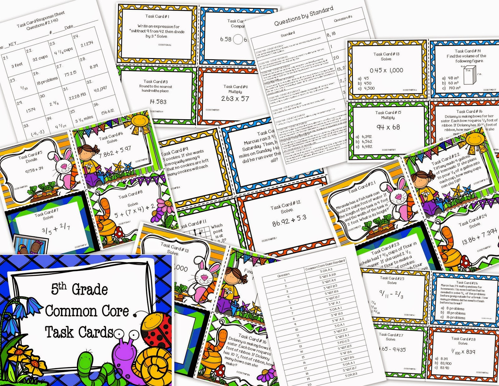 5th grade common core math worksheets answers
