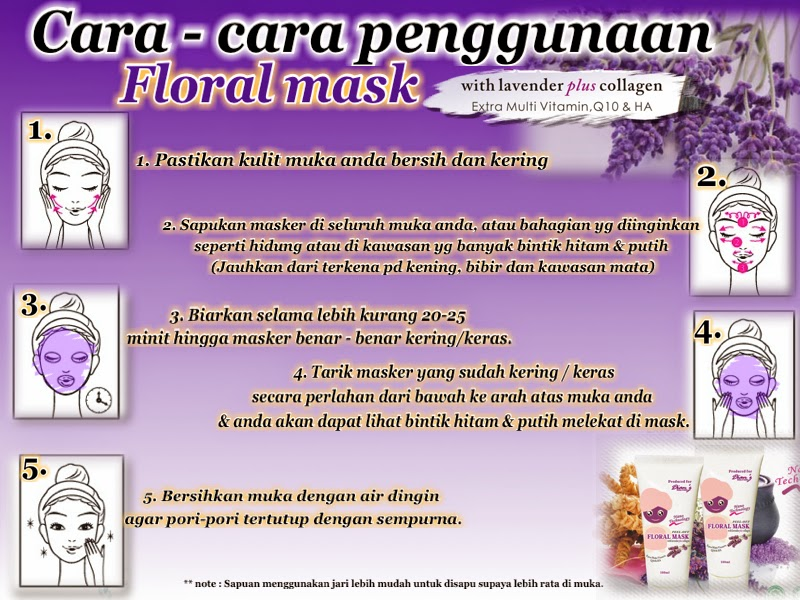 FLORAL MASK LAVENDER 50ML