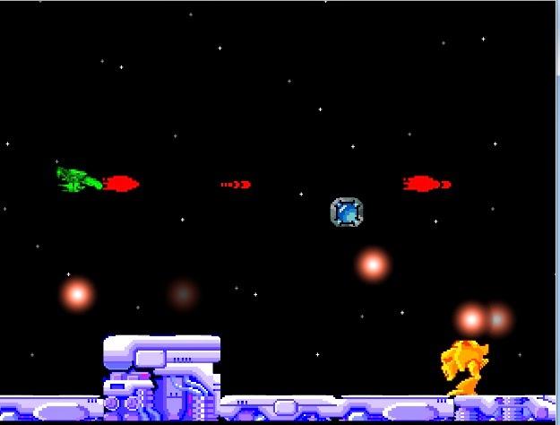 Yeşil uzay yokedicisi oyunu oyna