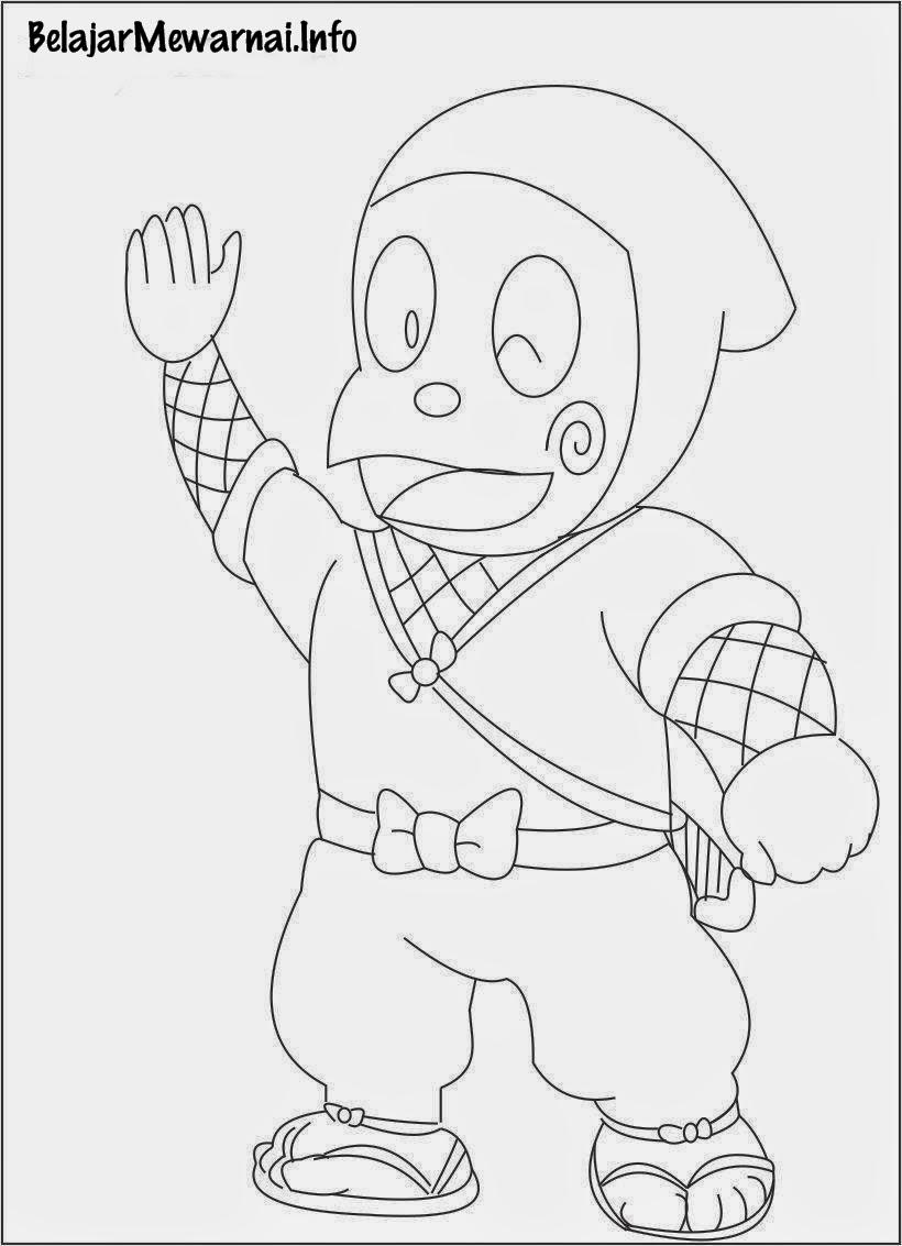 Gambar Mewarnai Ninja Hattori