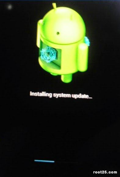 Android is installing the lollipop update on android 4.0