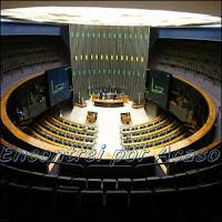 Câmara dos deputados. Normalmente com seu plenário vazio