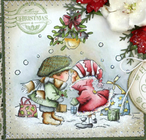 Denas stamping corner lili of the valley challenge christmas for he is the very best hubby in the world this is our theme for this week at the lili of the valley challenge christmas card for someone special m4hsunfo