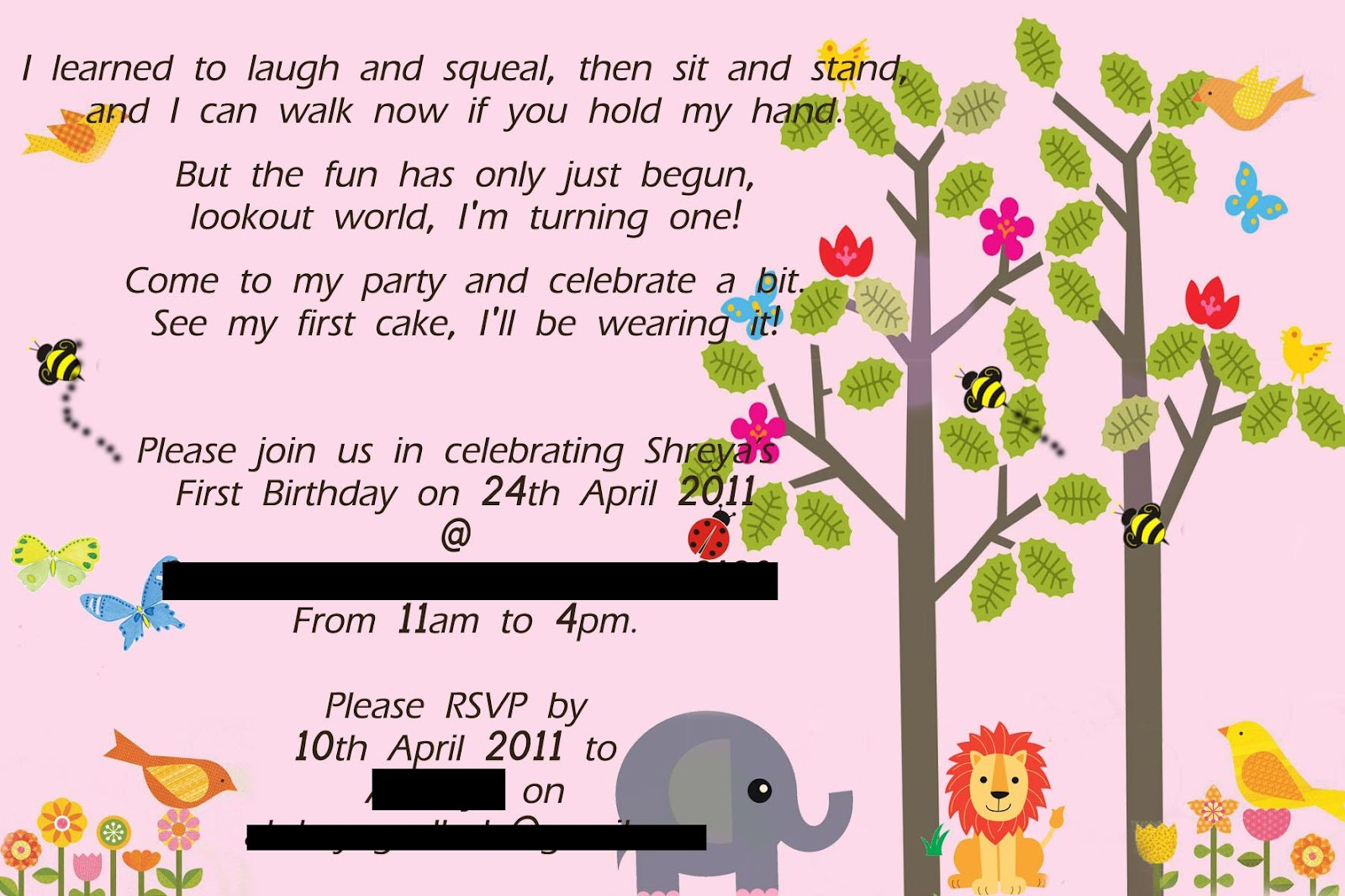 The Craft Gallery : Birthday Party Invitations - Photoshop Art
