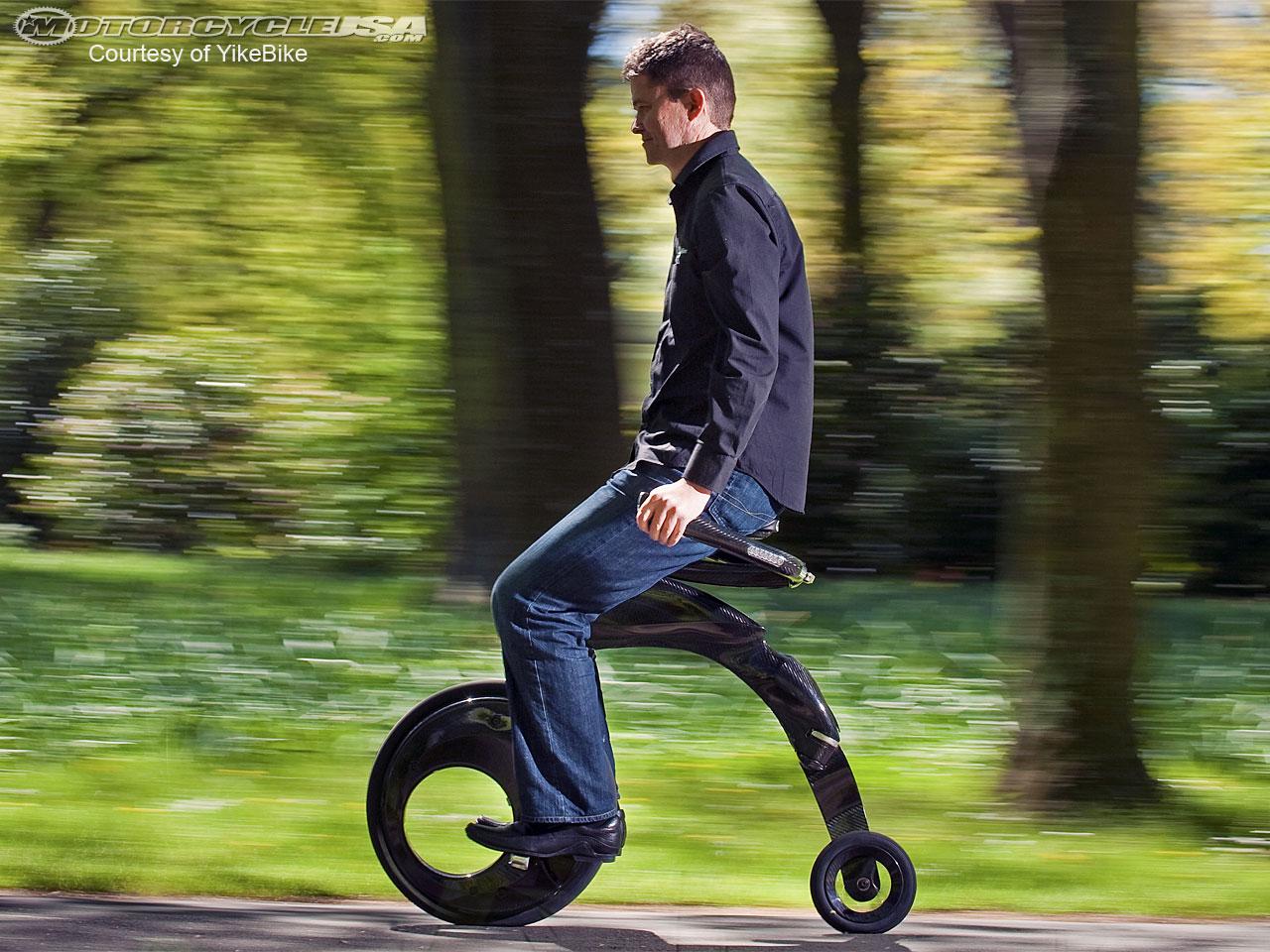 ... で超軽量な電動自転車YikeBike