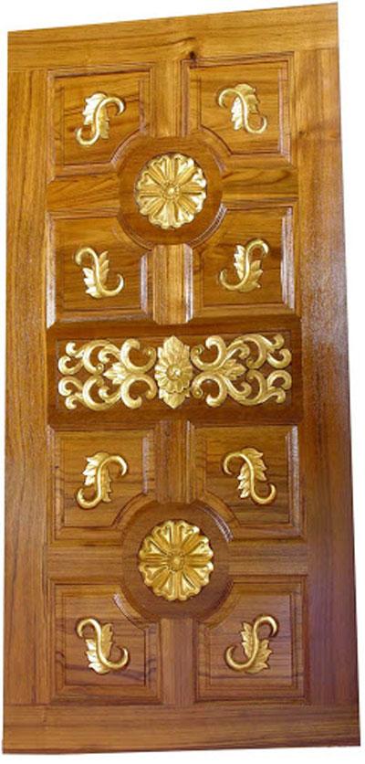 wooden front door single door designs kerala style wooden front door ...