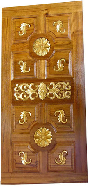 Latest kerala model wood single doors designs gallery i for Doors design indian style