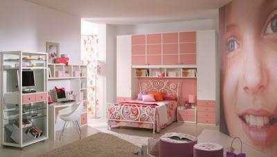 Modern Pink Bedrooms for Girls Rooms, http://dornob.blogspot.com/
