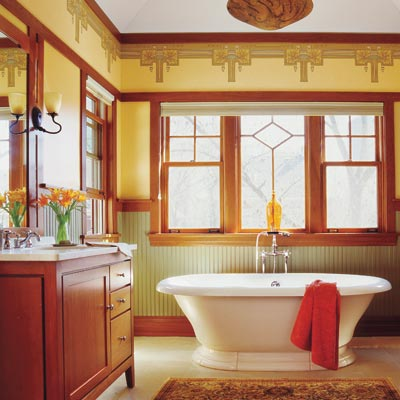 The bath showcase how to create a modern bath in a - Arts and crafts style bathroom design ...