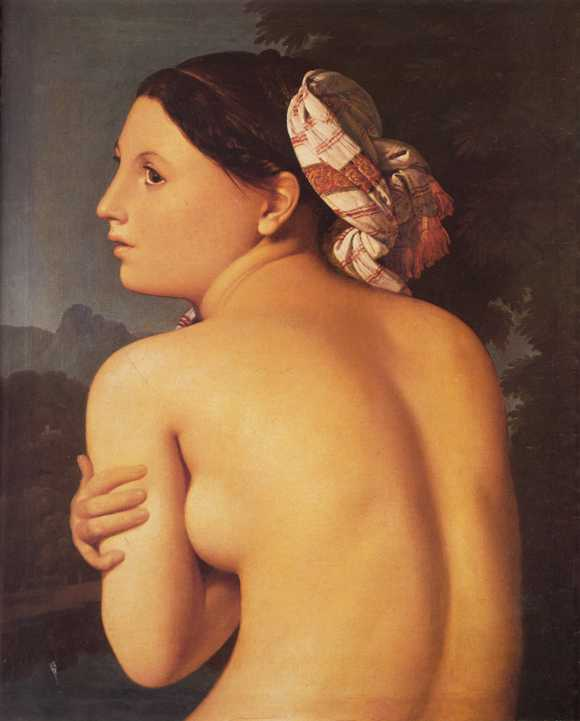 Half Figure of a Bather - Jean Auguste Dominique Ingres Painting