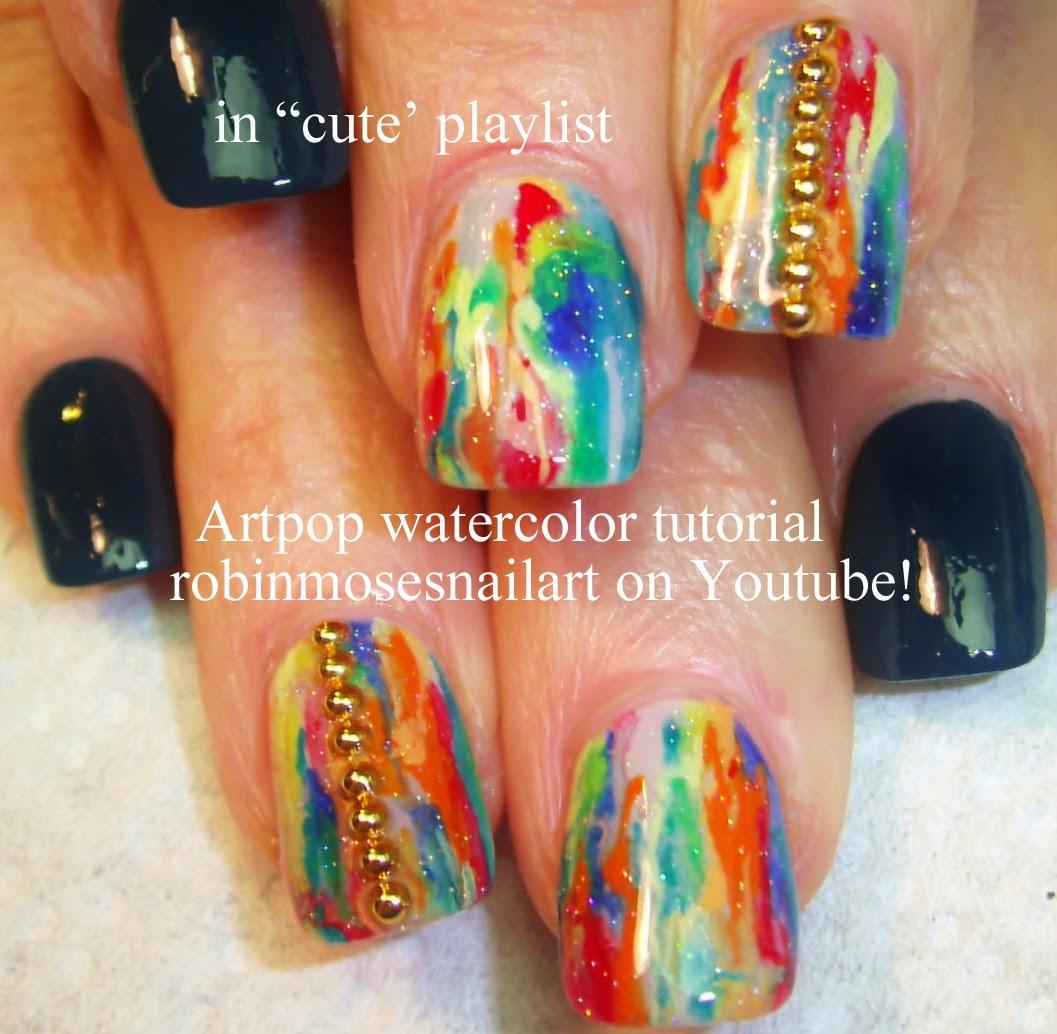 Robin moses nail art splatter paint nail art technique with blue cute nail art playlist diy easy nail tutorials cute nail designs nail art for beginners to advanced nail techs prinsesfo Gallery