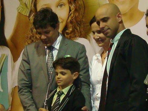 Ministro da Educação Fernando Haddad e o regente da Filarmônica Hélio Jr.