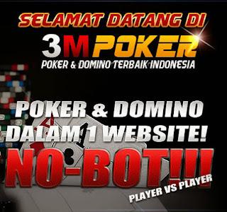 3MPOKER.com Agen Judi Poker Domino QQ Ceme Online Terpercaya