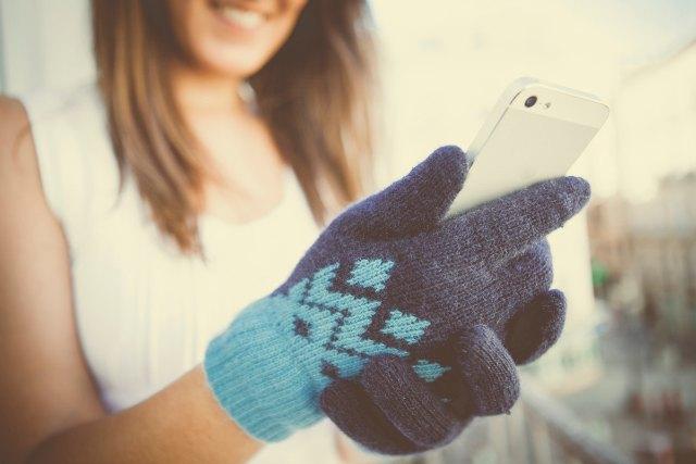 guantes lana mint