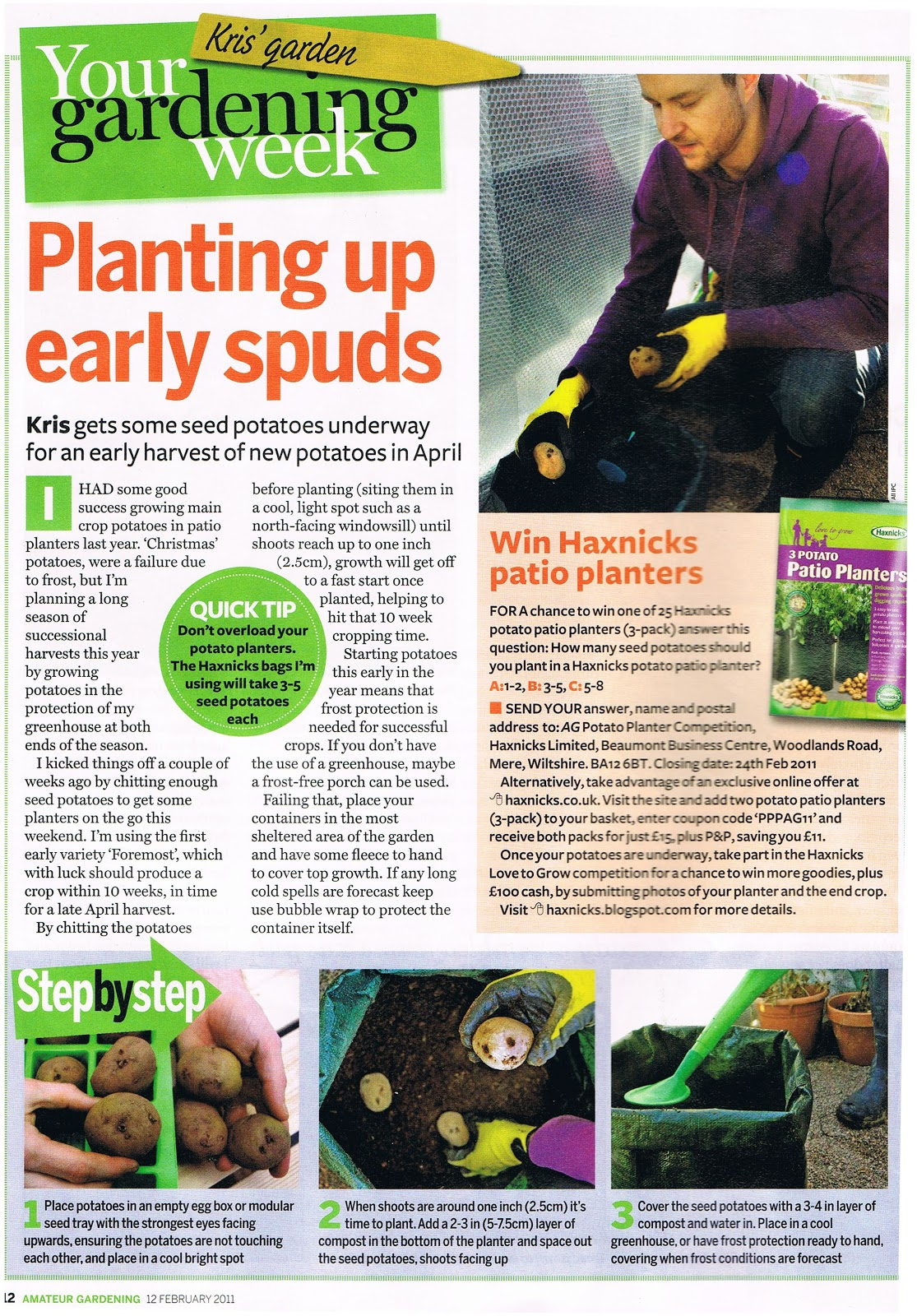 In Amateur Gardening this week, gardening editor Kris Collins wrote about ...
